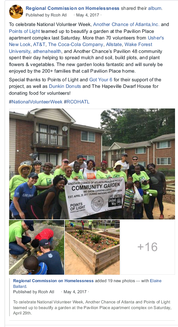 Our Community Partneru0027s Points Of Light And The United Way Of Greater  Atlanta Helped Our Garden Day Event To Become A Big Success!